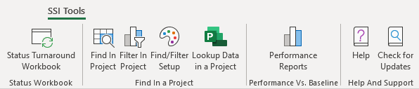 SSI Tools for Microsoft Excel Ribbon